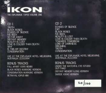 Ikon - The Esplanade Tapes Volume One (2CD) (Reissue) (2012)