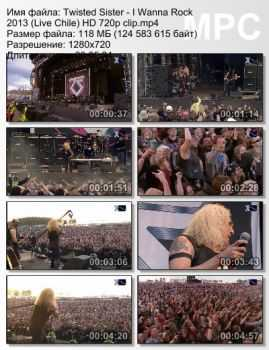 Twisted Sister - I Wanna Rock (Live Chile) (2013)