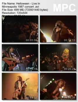 Helloween - Live In Minneapolis (1987) (DVDRip)