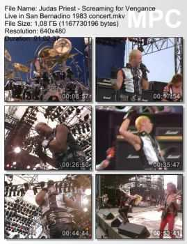 Judas Priest - Screaming For Vengance: Live In San Bernadino (1983) (TVRip)