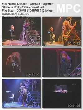 Dokken - Lightnin' Strike In Philly (1987) (DVDRip)