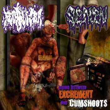 Fecalizer & Semen - Living Between Excrement And Cumshoots (Split) (2013)