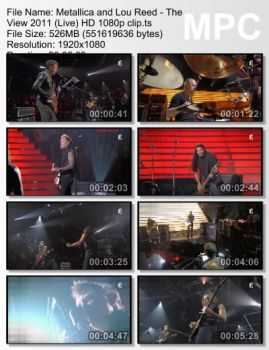 Metallica And Lou Reed - The View (2011) (Live)