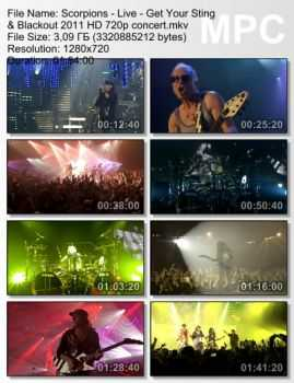Scorpions - Live: Get Your Sting & Blackout (2011) (HD 720p)