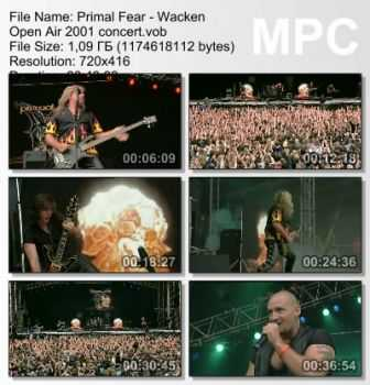 Primal Fear - Wacken Open Air (2001) (DVDRip)