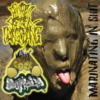 Monster Cock Diphalia & Postmortem Preteen Gangbang - Marinating In Shit (Split) (2014)