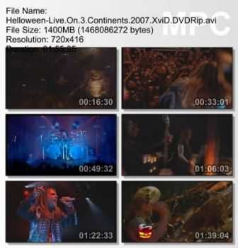 Helloween - Live On 3 Continents (2007) DVDRip