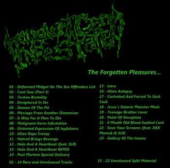 Malignant Germ Infestation - The Forgotten Pleasures (Compilation) (2014)