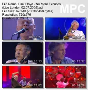 Pink Floyd - No More Excuses (Live in London 02.07.2005) DVDRip