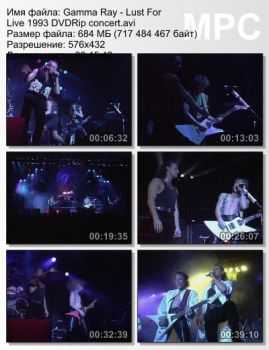 Gamma Ray - Lust For Live (1993) DVDRip