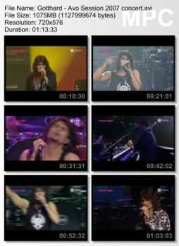 Gotthard - Avo Session (2007) DVDRip