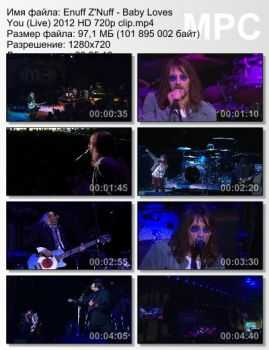 Enuff Z'Nuff - Baby Loves You (Live) (2012)