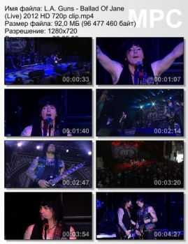 L.A. Guns - Ballad Of Jane (Live) (2012)
