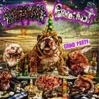 Ripping Organs / Pornocaust - Grind Party (Split) (2015)
