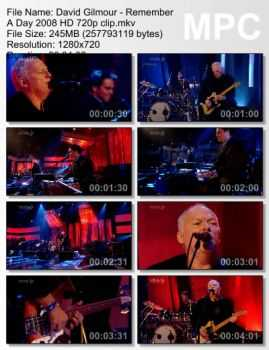 David Gilmour - Remember A Day (2008) HD 720p