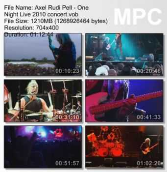 Axel Rudi Pell - One Night Live (2010) DVDRip