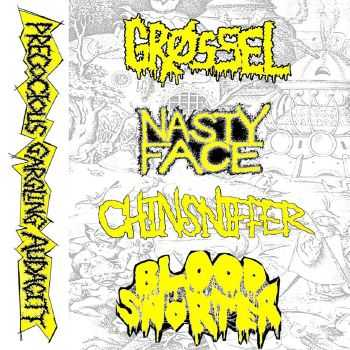 Grøssel / Nasty Face / Chinsniffer / Blood Snorter - Precocious Gargling Audacity [split] (2016)